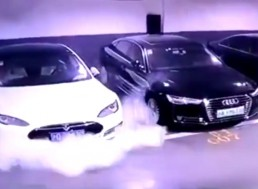 Tesla Model S Appears to Catch Fire Spontaneously in China