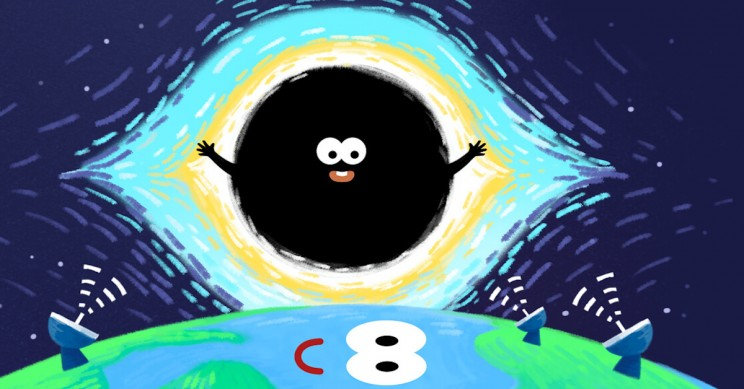 Baidu Celebrates Black Hole Image With Cheery Doodle