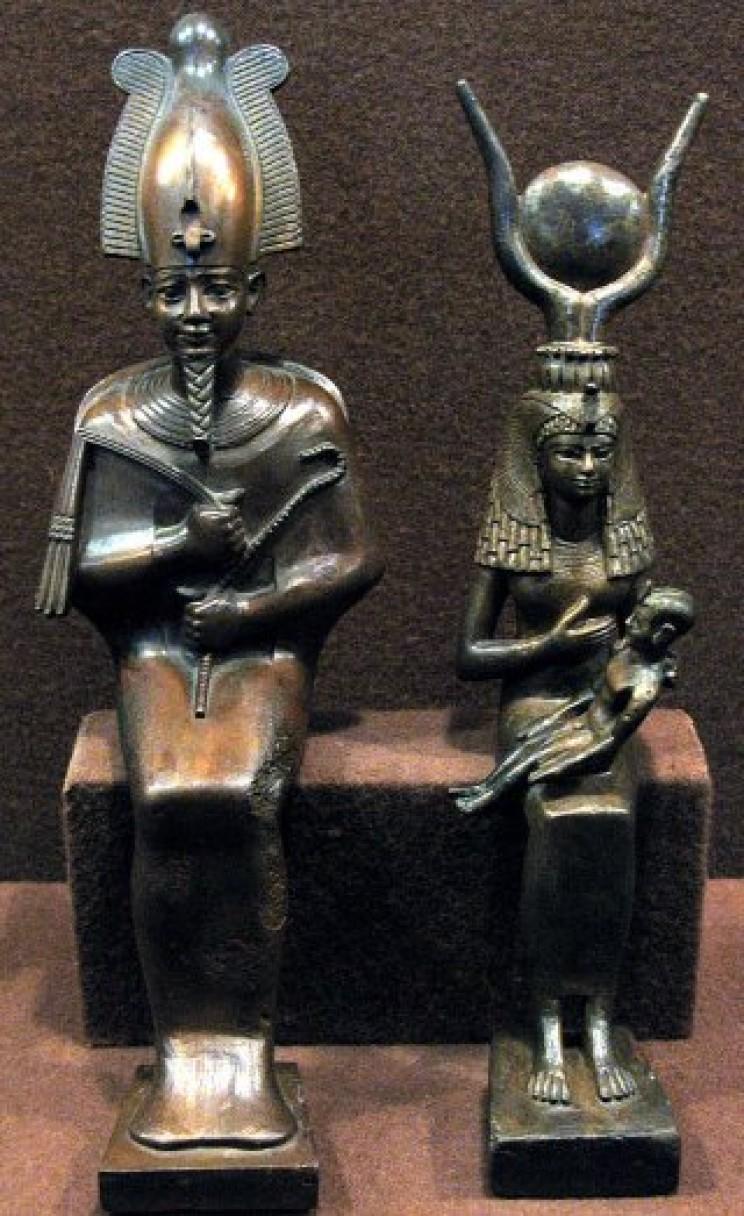 Egyptian bronze statues