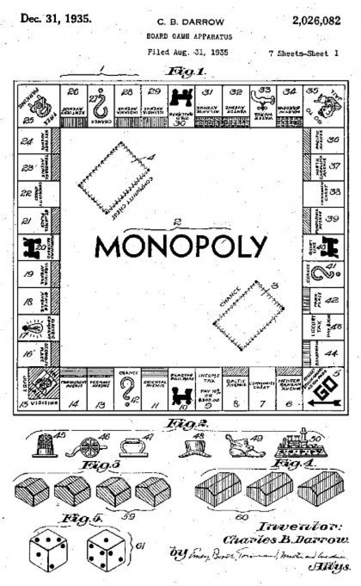 Patent for Monopoly Game