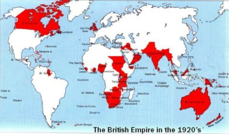 Map of British colonies