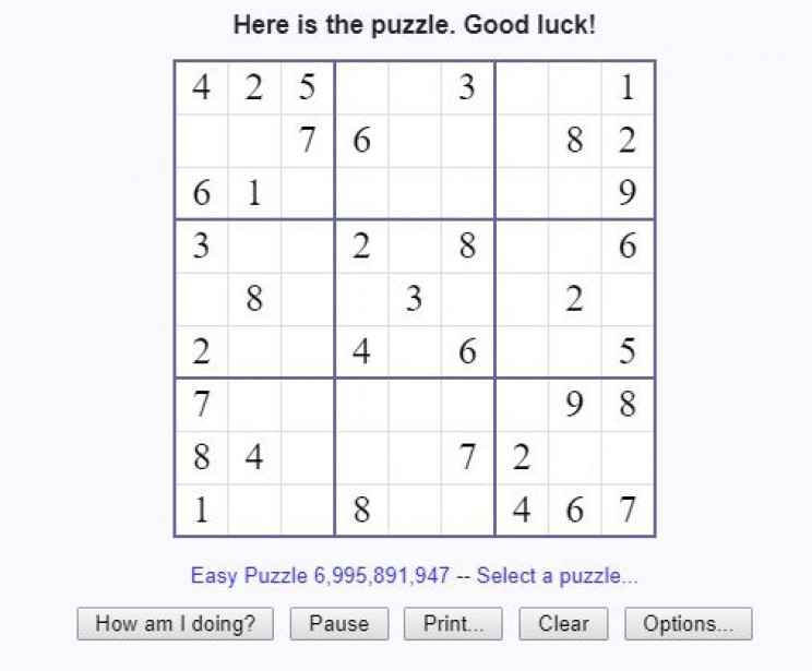 maths games sudoku