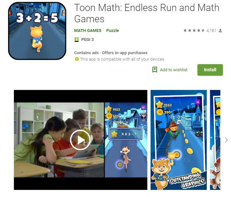 maths games toon math