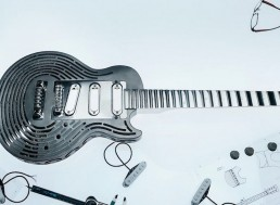 Engineers Challenge Rockstar with the World's First 3D Printed, Smash-Proof Guitar