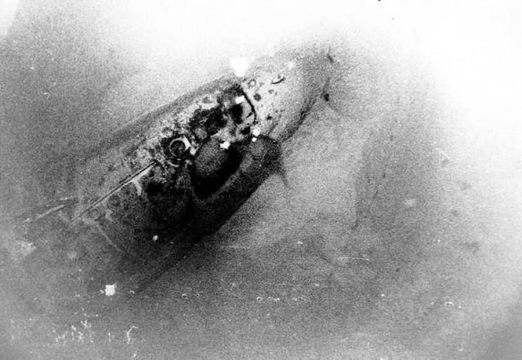 USS Scorpion on the ocean floor