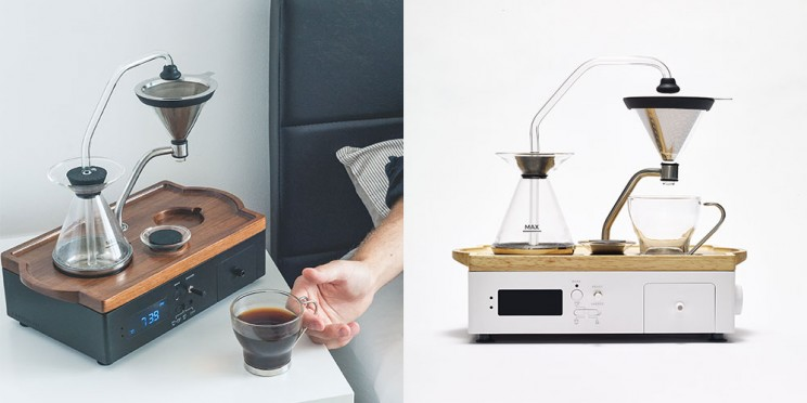 Wake Up to a Freshly Brewed Cup of Coffee with This Stylish Alarm Clock