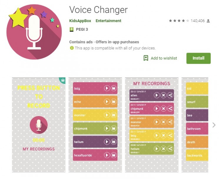 voice changing apps voice changer