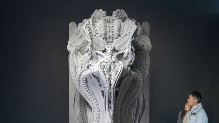 3D printed giger like art