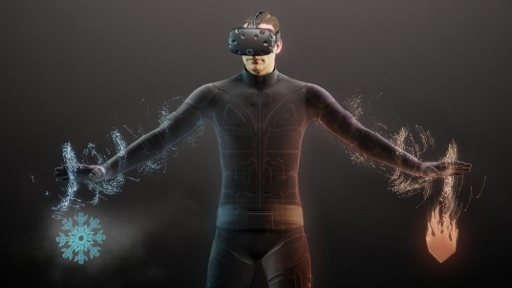 teslasuit haptic virtual reality