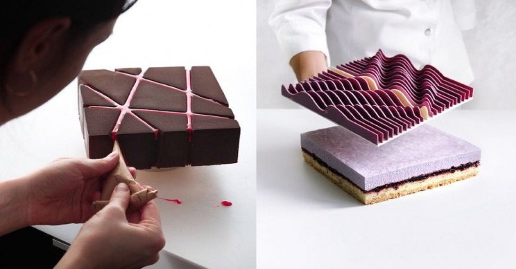 This Pastry Chef Creates Fascinating Geometric Cakes Using 3D Printing