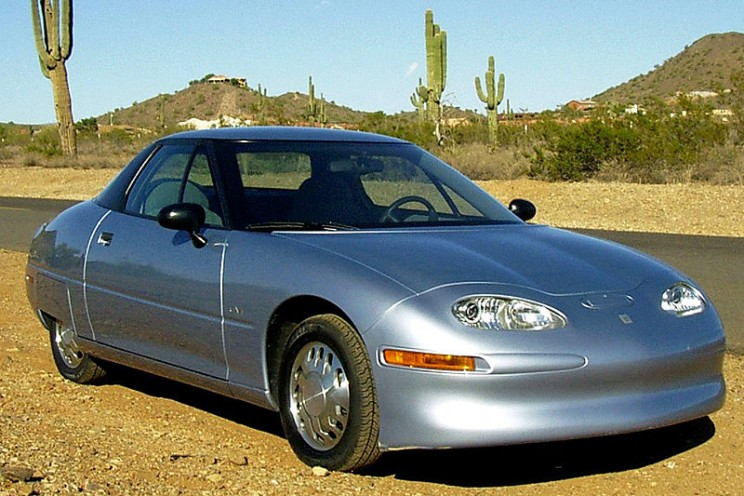 history of electric vehicles GM EV1