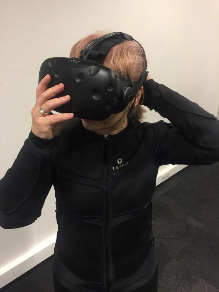 total immersive VR haptic teslasuit