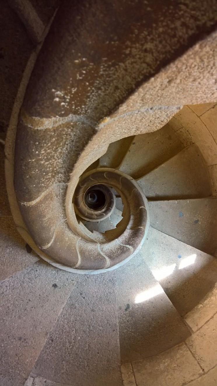 La Sagrada Familia spiral staircase