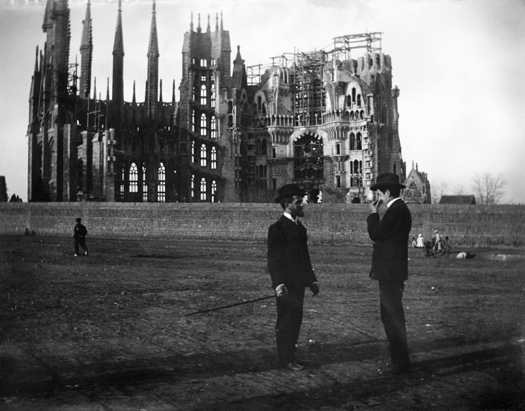 La Sagrada Familia in 1905