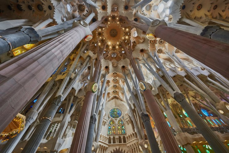 La Sagrada Familia Basilica indoors