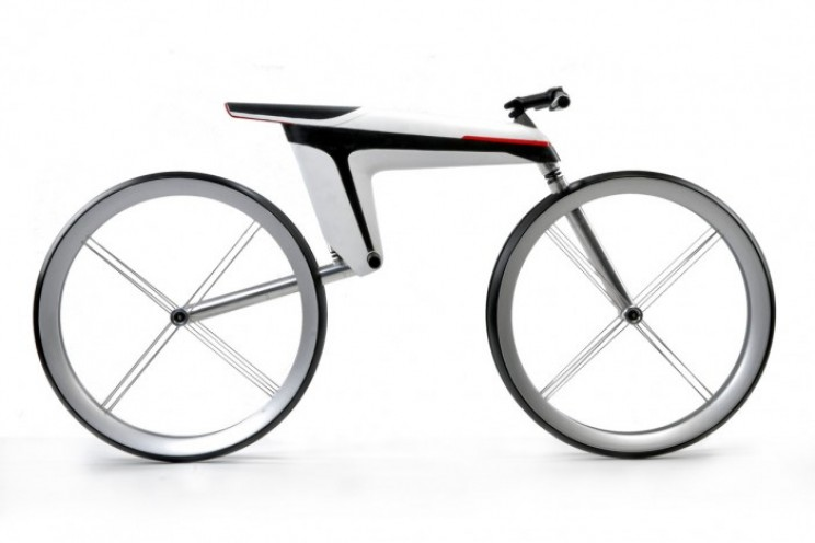 This carbon Fibre bike combines technology with style