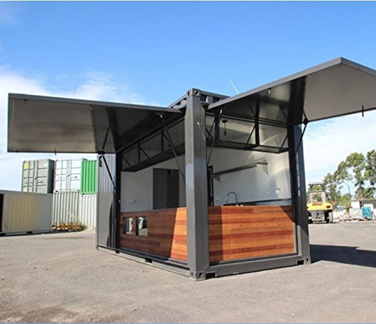 Amazon shipping containers pop-up