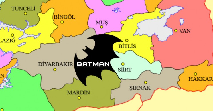 Petition Aims to Reshape Turkish Province Batman's Borders into Superhero's Logo, Because Why Not