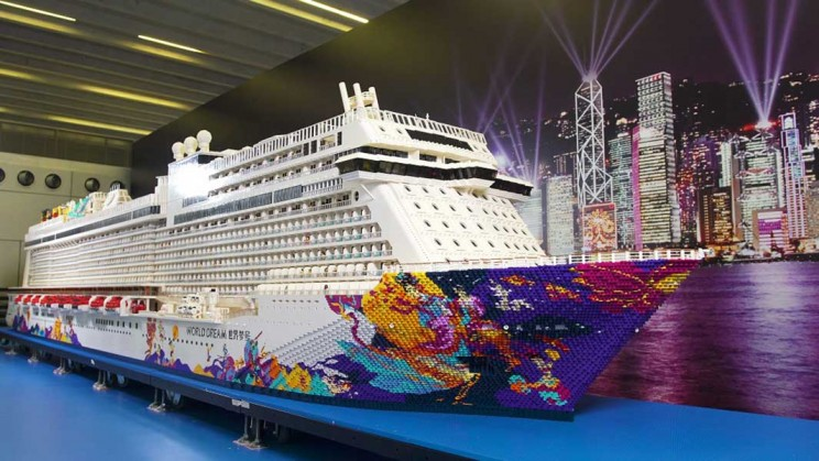 The world's largest Lego ship Hong Kong