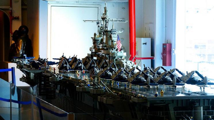 USS Intrepid ship lego model by David Dement