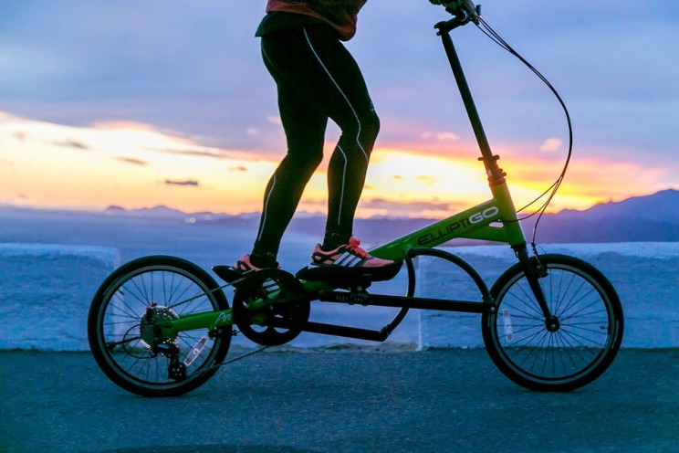 The Elliptigo bike is perfect for low impact cycling.