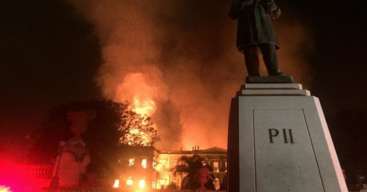 Brazil's 200-Year-Old National Museum Gutted By Raging Fire