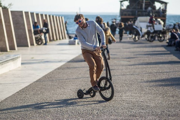The Halfbike is a comfortable and efficient mode of transport