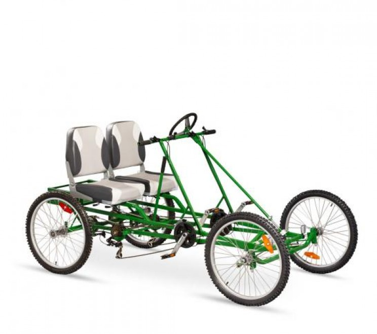 VierBike's four wheel bicycle