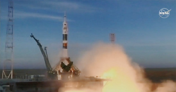 New ISS Crew Safely Blast Off From Kazakhstan