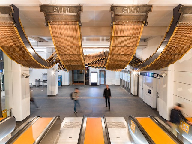 80-Year-Old Railway Station Escalators Are Turned Into A Striking Art Installation