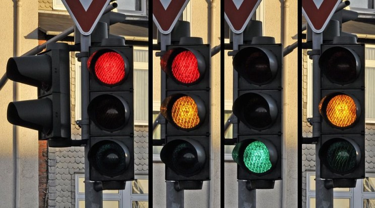 Futuristic Traffic Lights IBM