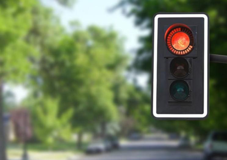 Futuristic Traffic Lights countdown