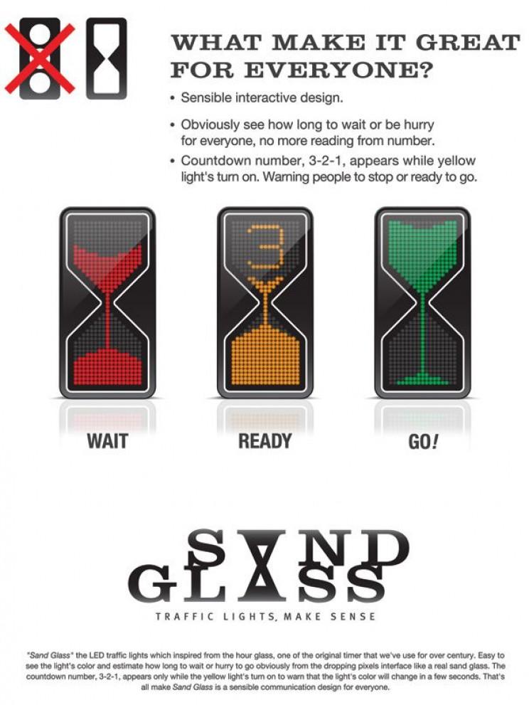 Futuristic Traffic Lights hourglass