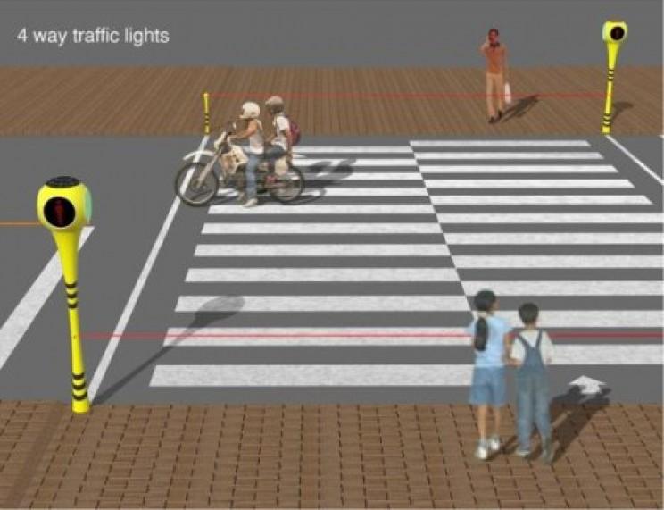Futuristic Traffic Lights lasers