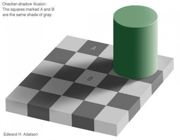 Optical Illusion Tricks Checkers