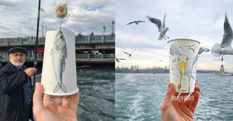 This Traveling Artist Brings Life to Paper Cups