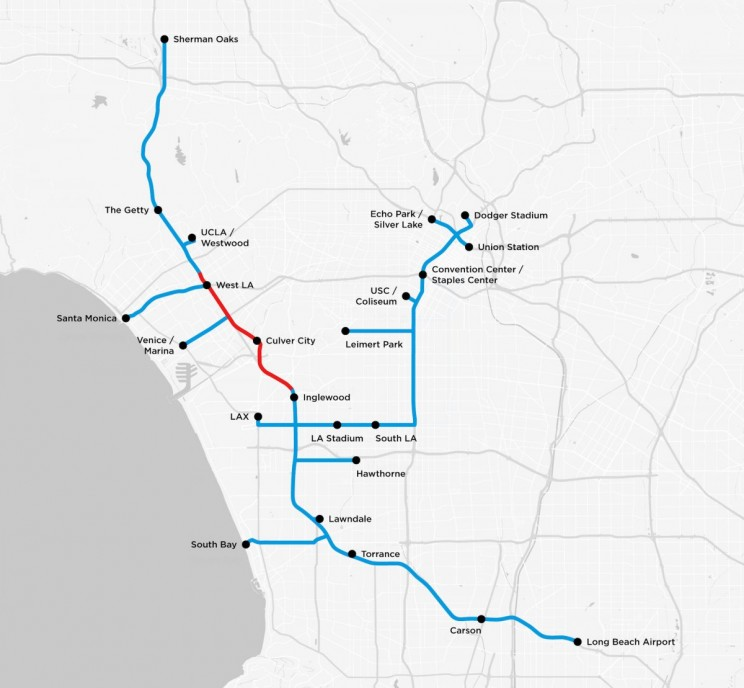 Elon Musk's Boring Company Just Unveiled its Map of the LA Tunnel System
