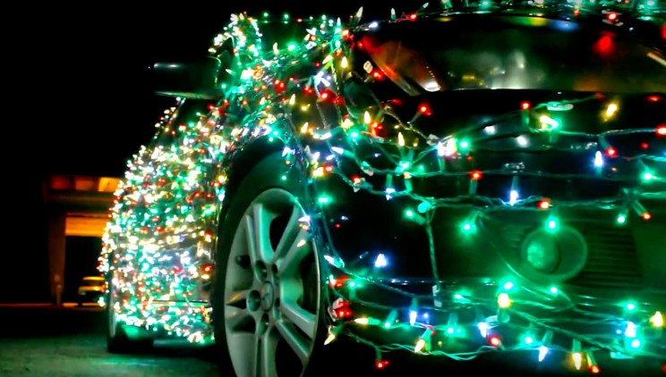 Festive Man Fined $232 for Adorning His Car with Christmas Lights
