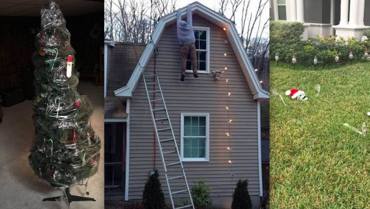 10 of the Laziest Christmas Decoration Attempts