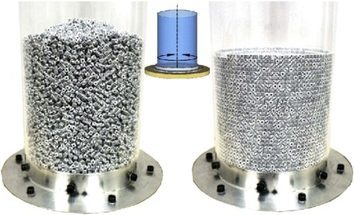 Scientists Capture 25,000 Dice Ordering Themselves Perfectly in a Cylinder