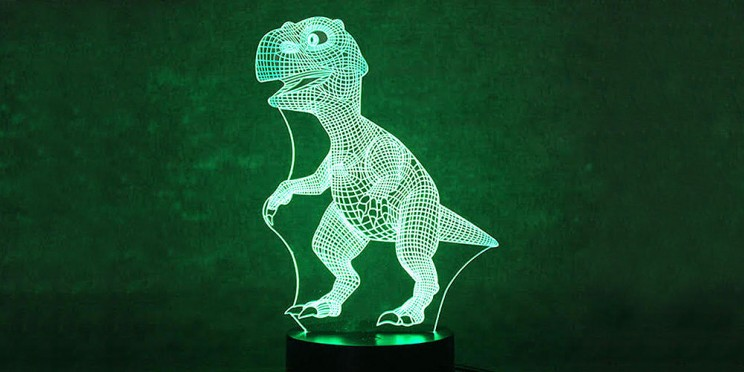 This 3D T-Rex Light Is the Perfect Gift for the Dinosaur Lover on Your List
