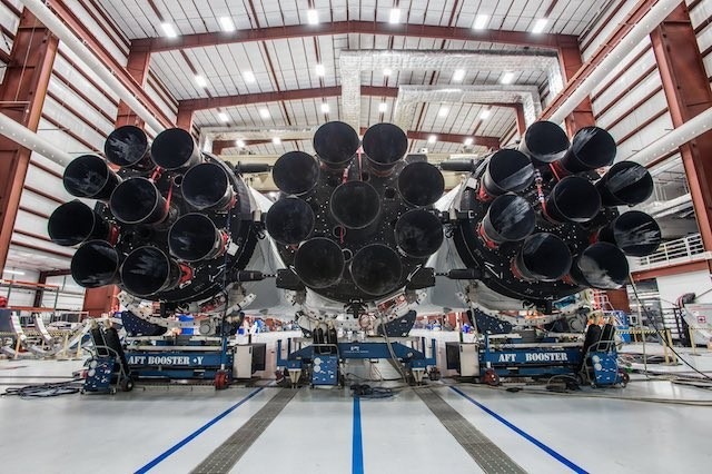 Elon Musk Shares First Photos of SpaceX's Falcon Heavy Rocket