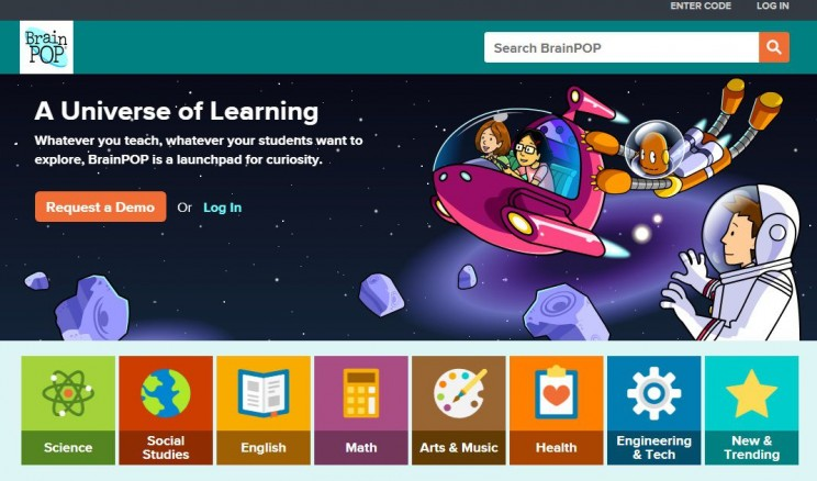 interactive science websites BrainPOP