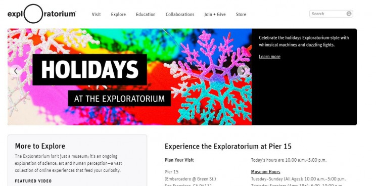 interactive science websites exploratorium