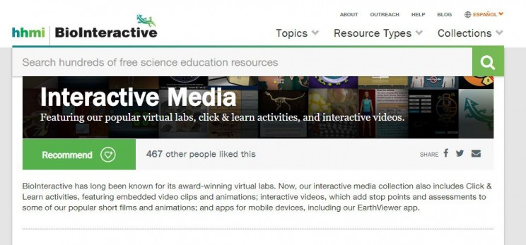 interactive science websites hhmi