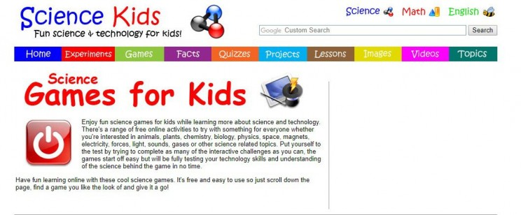 interactive science websites sciencekids