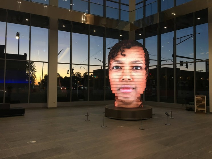This Public Art Installation Blows Up Your Selfie 17 Times Larger