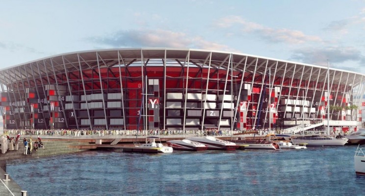 World Cup Stadium in Qatar Will Be Constructed Entirely Out Of Reusable Shipping Containers