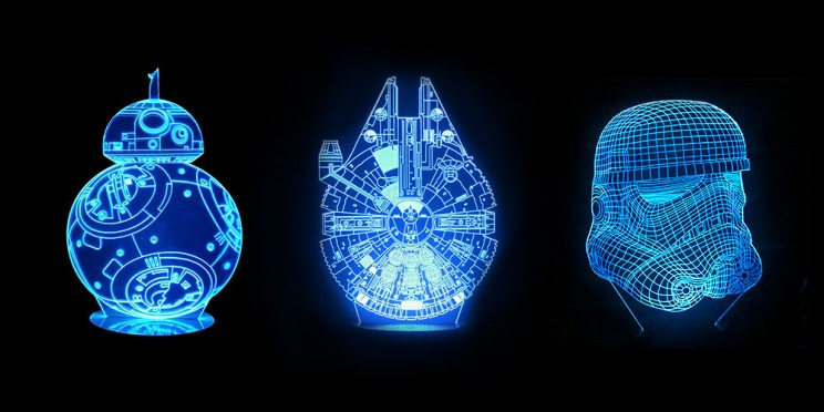 Show Your True Colors with These 3D Star Wars Lamps