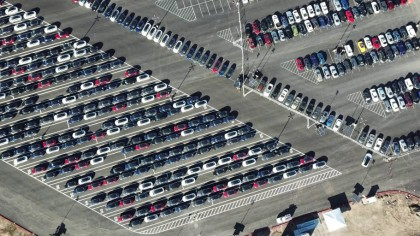 New Drone Video Over Tesla's Factory Shows Off Model 3 Units